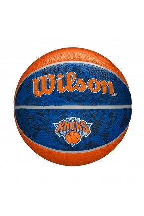 bola de basquete wilson new york knicks nba team azul laranja hyped 91