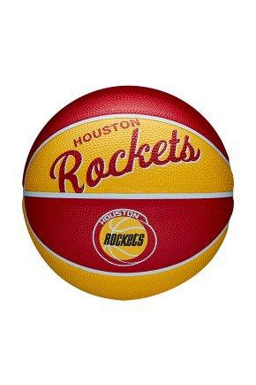 mini bola de basquete infantil wilson rouston rockets nba team vermelho amarelo hyped 91