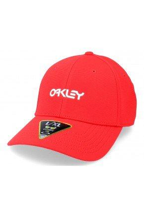 Bon Oakley 6 Panel Stretch Metallic Hat   Red Line   hyped 91  2