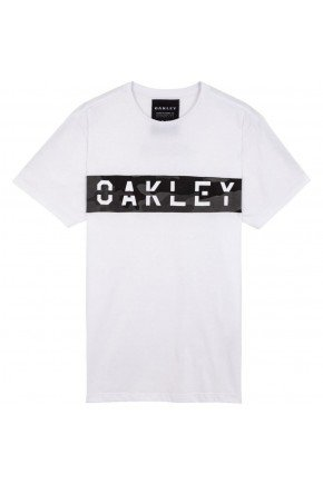 camiseta oakley mfg panel sp tee masculina branco hyped 91