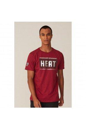 camiseta nba miami heat masculina bordo hyped 91