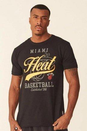 camiseta nba miami heat masculina preto hyped 91