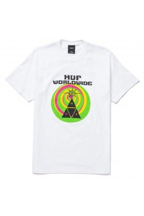 camiseta huf we give you masculina branco hyped 91