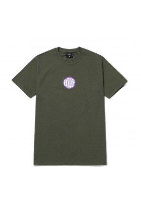 Camiseta HUF Silk Hi Def   Verde Militar Roxo  hyped 91
