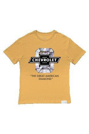 camiseta diamond x chevrolet american diamond amarelo hyped 91