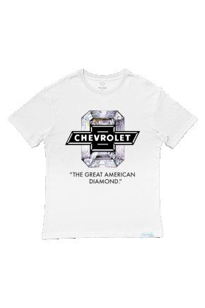 camiseta diamond x chevrolet american diamond branco hyped 91