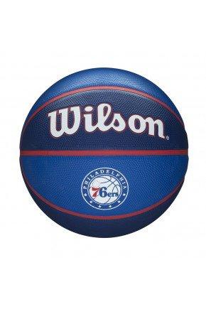 bola de basquete wilson nba philadelphia 76ers team tribute azul hyped 91 2